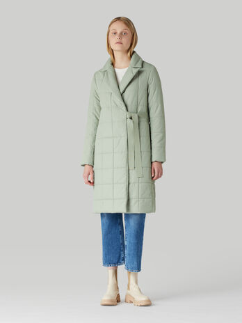 Soft quilted nylon coat
