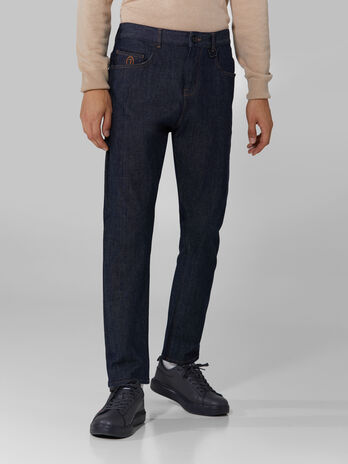 Relaxed stretch denim jeans