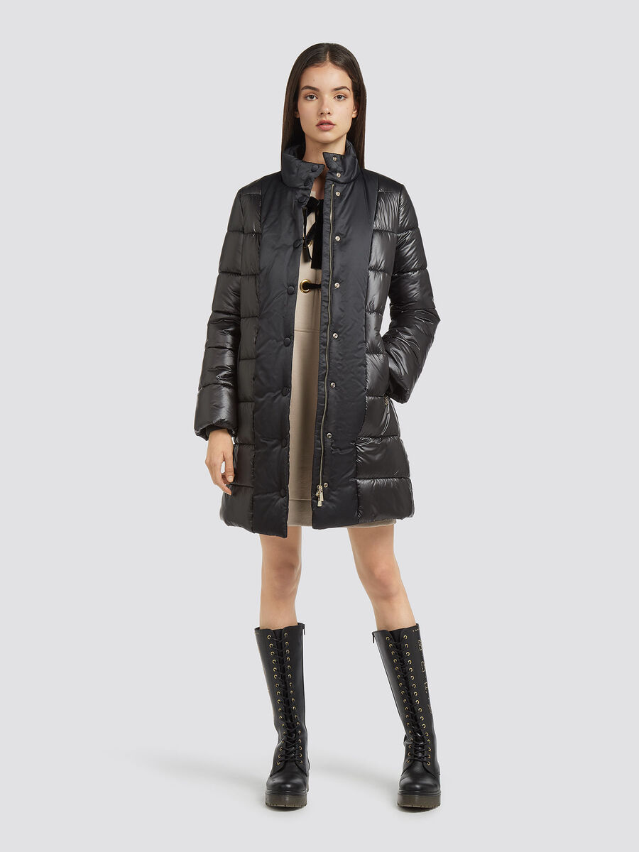 Sweatshirt dress with lacing and fine rib detailing