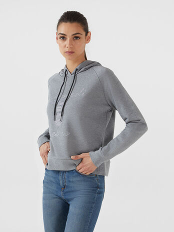 Sweat-shirt cropped en coton