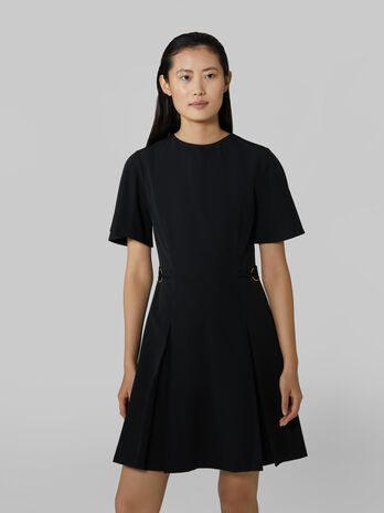 Short technical cady dress