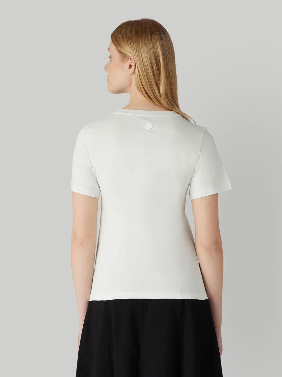 T-shirt coupe classique en jersey a imprime