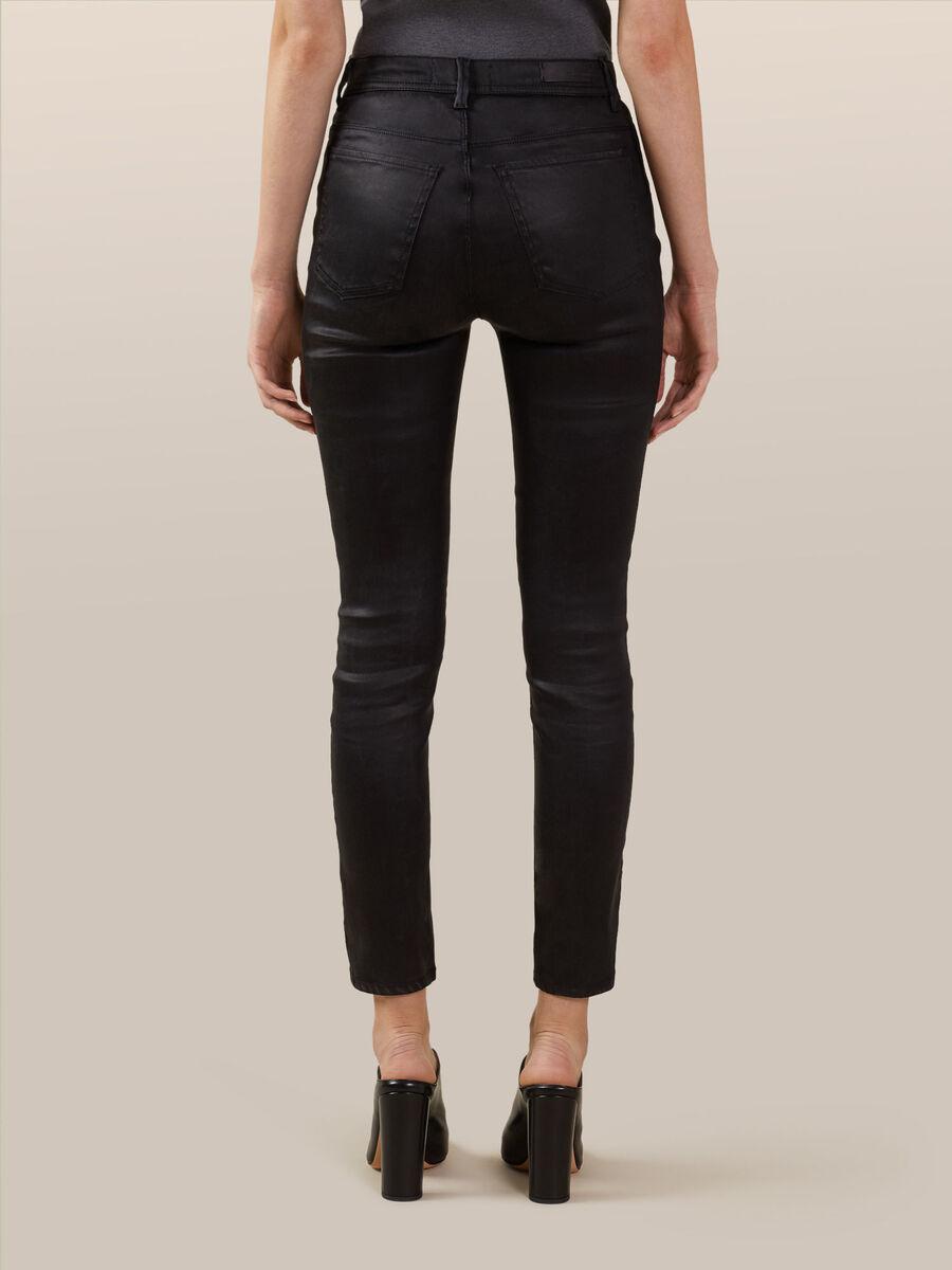 Skinny spark effect denim jeans