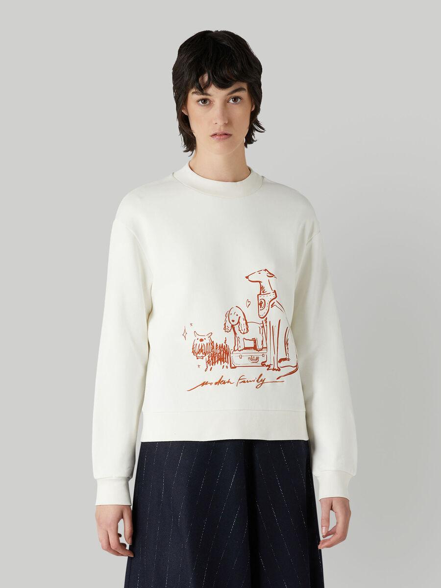 Regular-fit cotton sweatshirt with print
