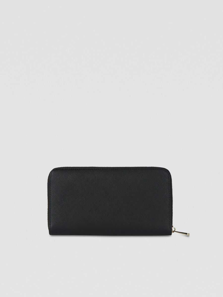 Large Bella zip-around purse in faux leather