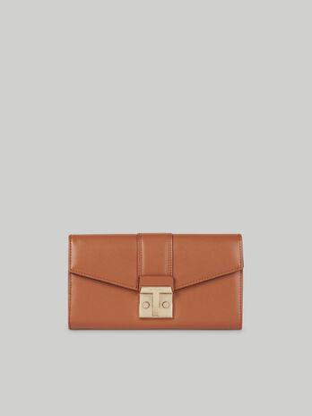 Plain faux leather Tulip continental purse