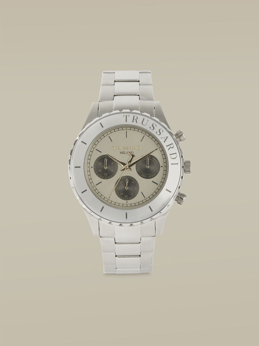 45-MM T-Logo watch with steel strap
