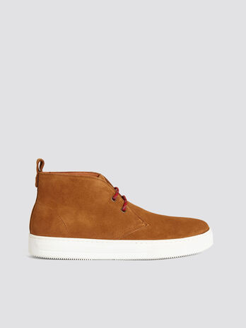 Solid colour desert ankle boots