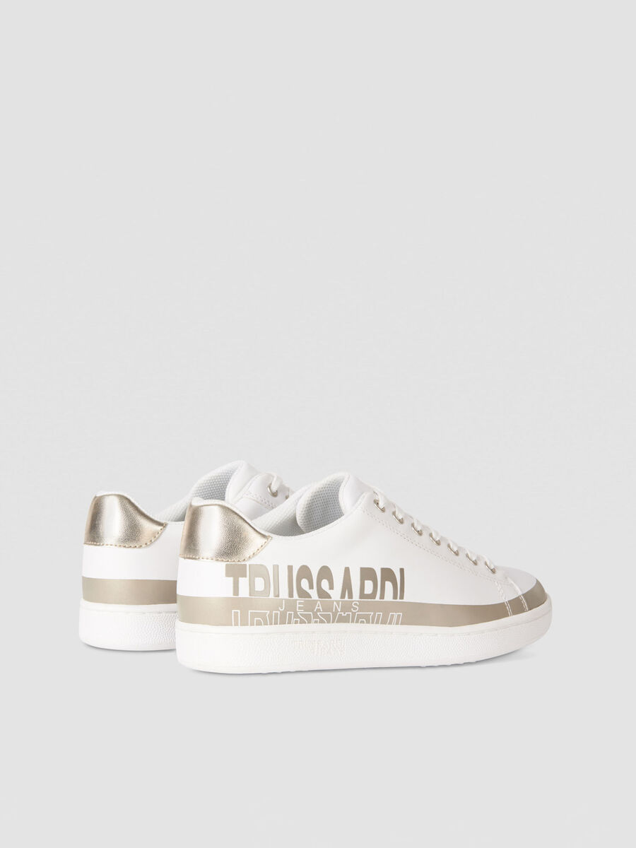 Sneakers en similicuir color block