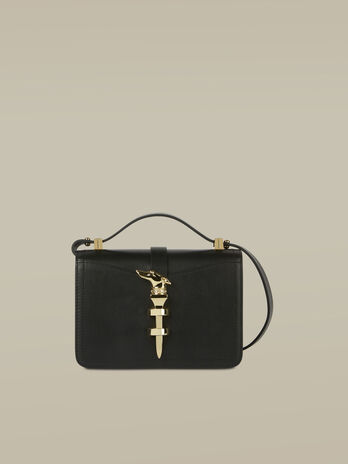 Small leather Leila Cacciatora bag