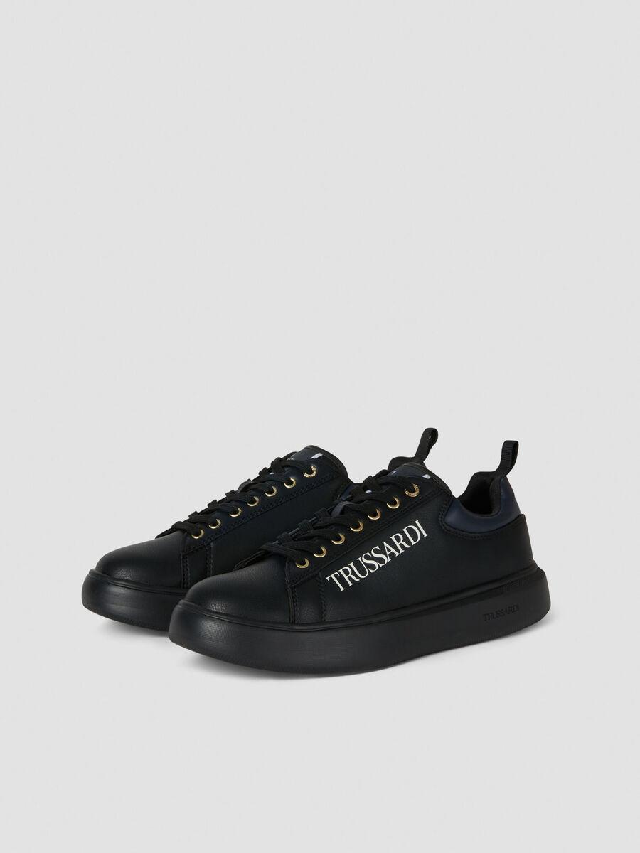 Sneakers en similicuir colorblock