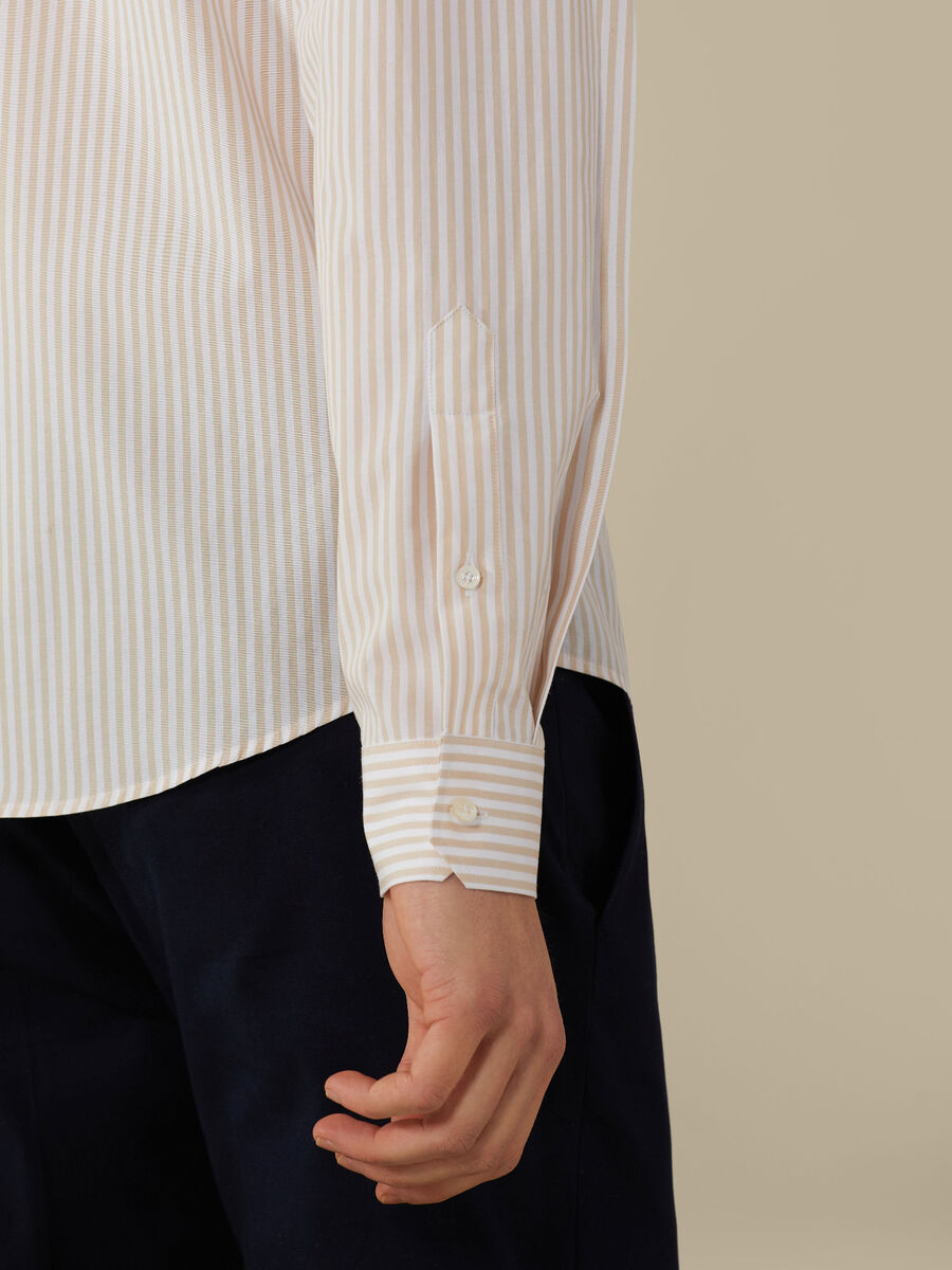 Regular-fit striped poplin Shirt
