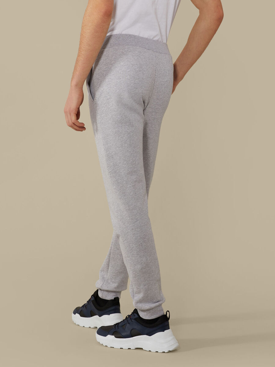 Fleece jogging bottoms with print