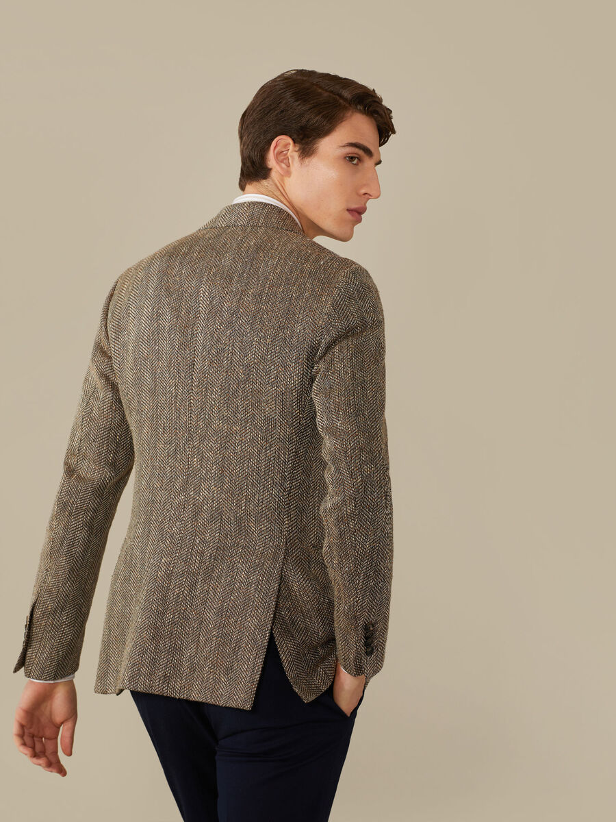 Tailored cotton-blend jacket