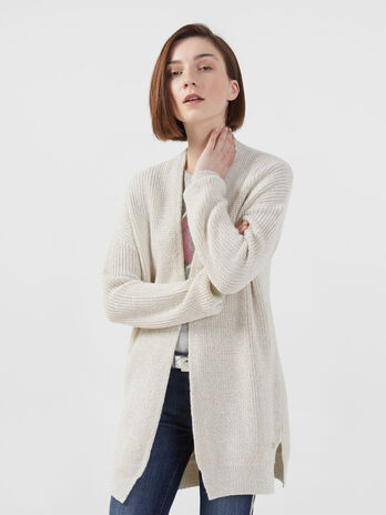 Cardigan in misto lana lurex over fit