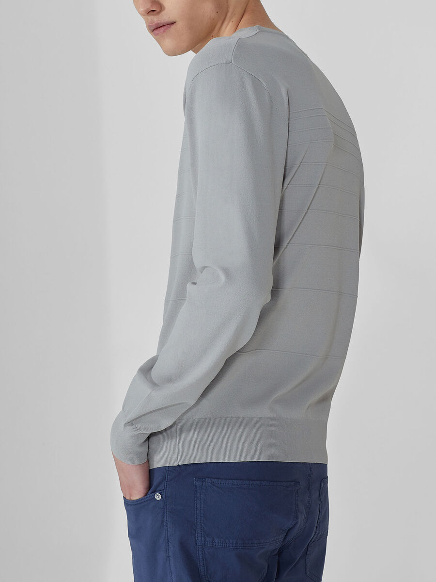 Jersey de cuello redondo de corte regular de otoman