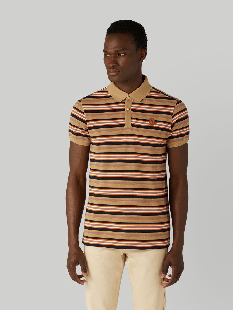 Poloshirt im Regular-Fit aus gestreiftem Pikee