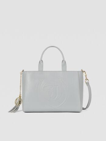 Medium Faith shopper in faux leather with logo