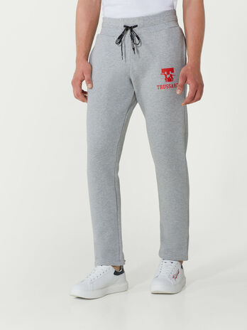 Regular fit cotton fleece jogging bottoms