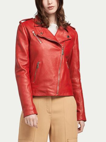 Matte lambskin biker jacket