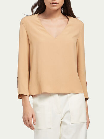 Bluse aus Cady Gewebe