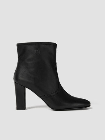 Smooth faux leather ankle boots
