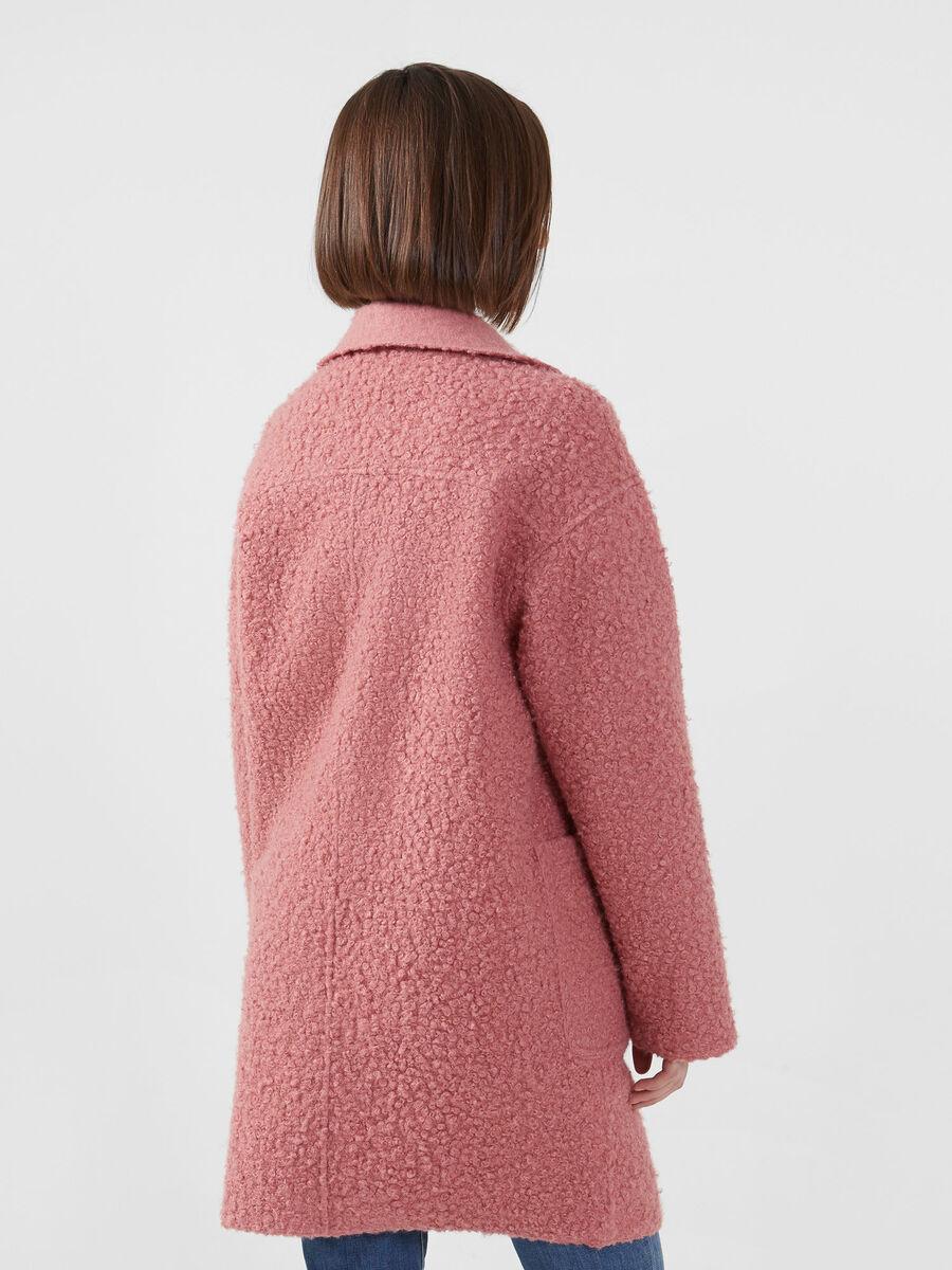 Oversize Mantel aus einfarbigem Boucle