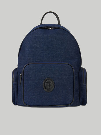 Denim Urban backpack with pockets