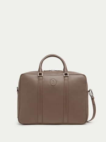 Mono zip overnight case in Willer leather