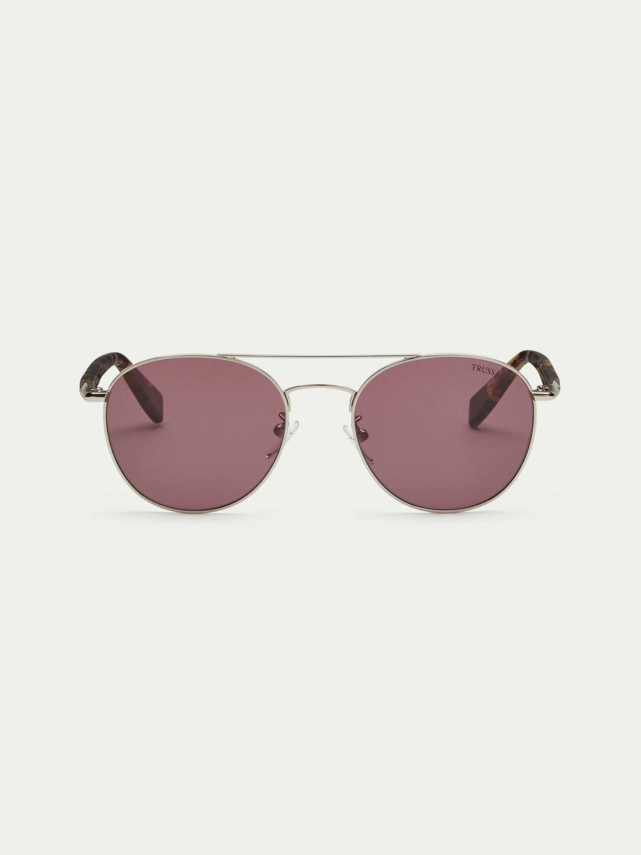 Gafas de sol efecto carey redondeadas