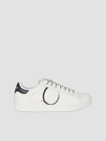 Sneaker Galium aus Leder mit Logo Schnuersenkeln