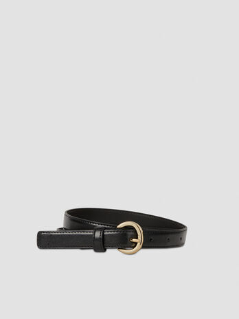 Smooth faux leather belt