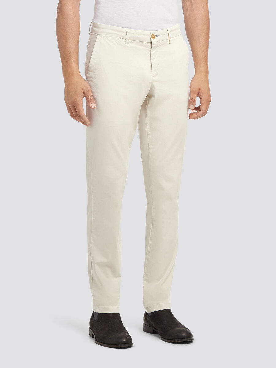 Solid colour aviator fit trousers
