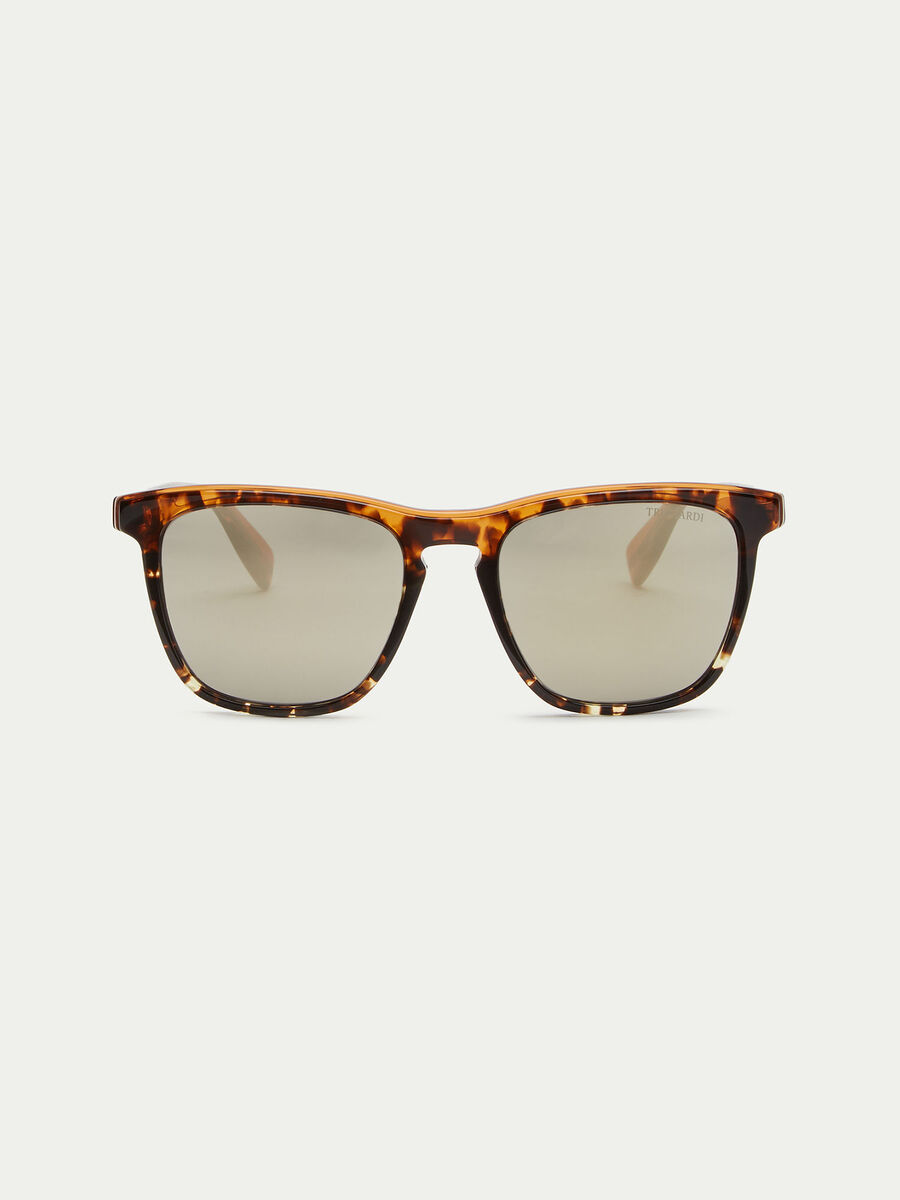 Thick framed tortoiseshell sunglasses