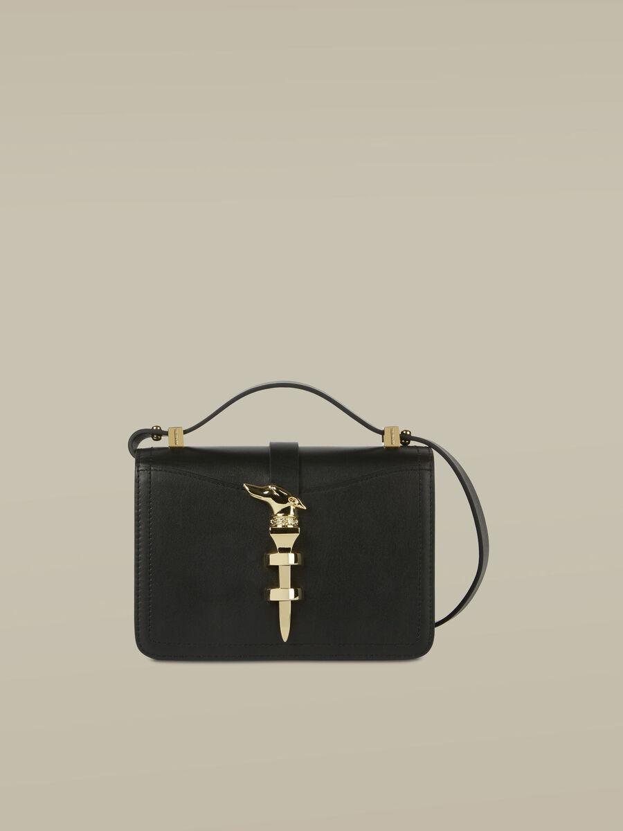 Small leather Leila Cacciatora bag