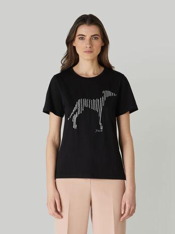 T-Shirt im Regular-Fit aus bedrucktem Baumwolljersey