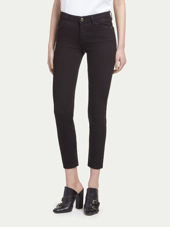 Jean stretch coupe cropped