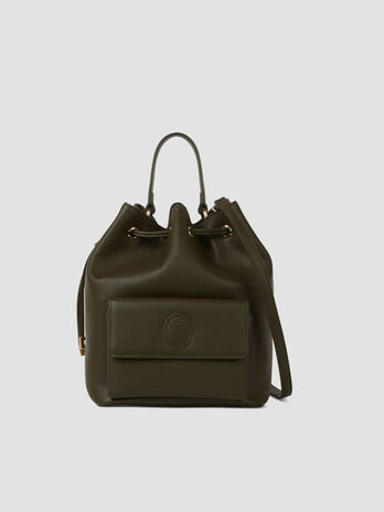 Medium faux leather Belgrado bucket bag