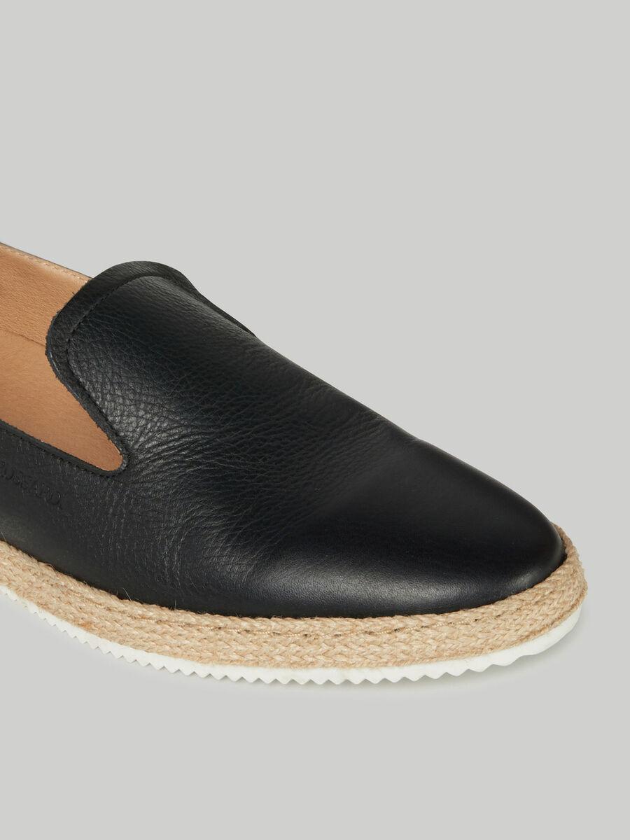 Deerskin-print leather espadrilles