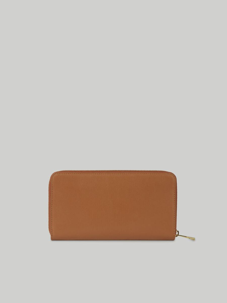 Leather Venezia zip-around purse