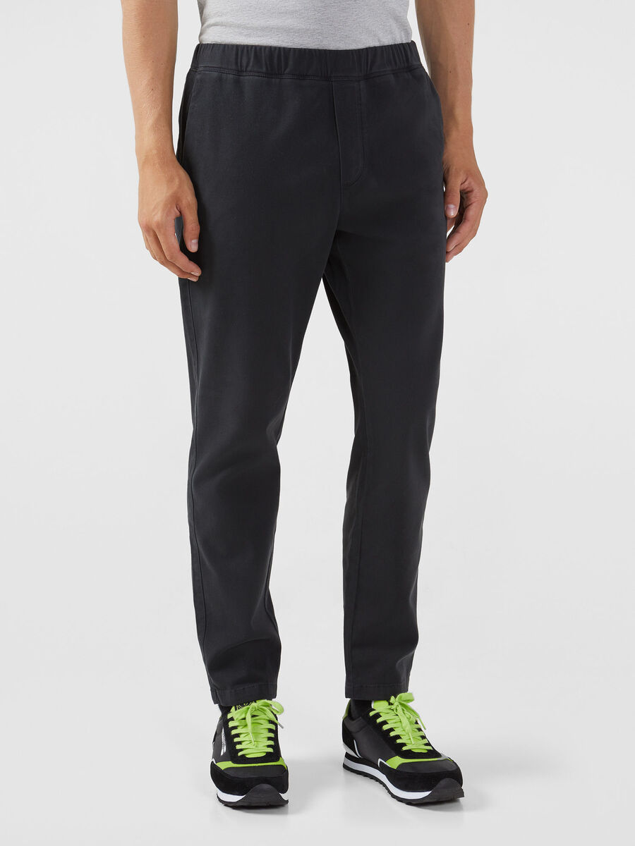 Soft gabardine jogging bottoms