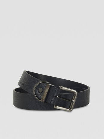 Hammered leather belt