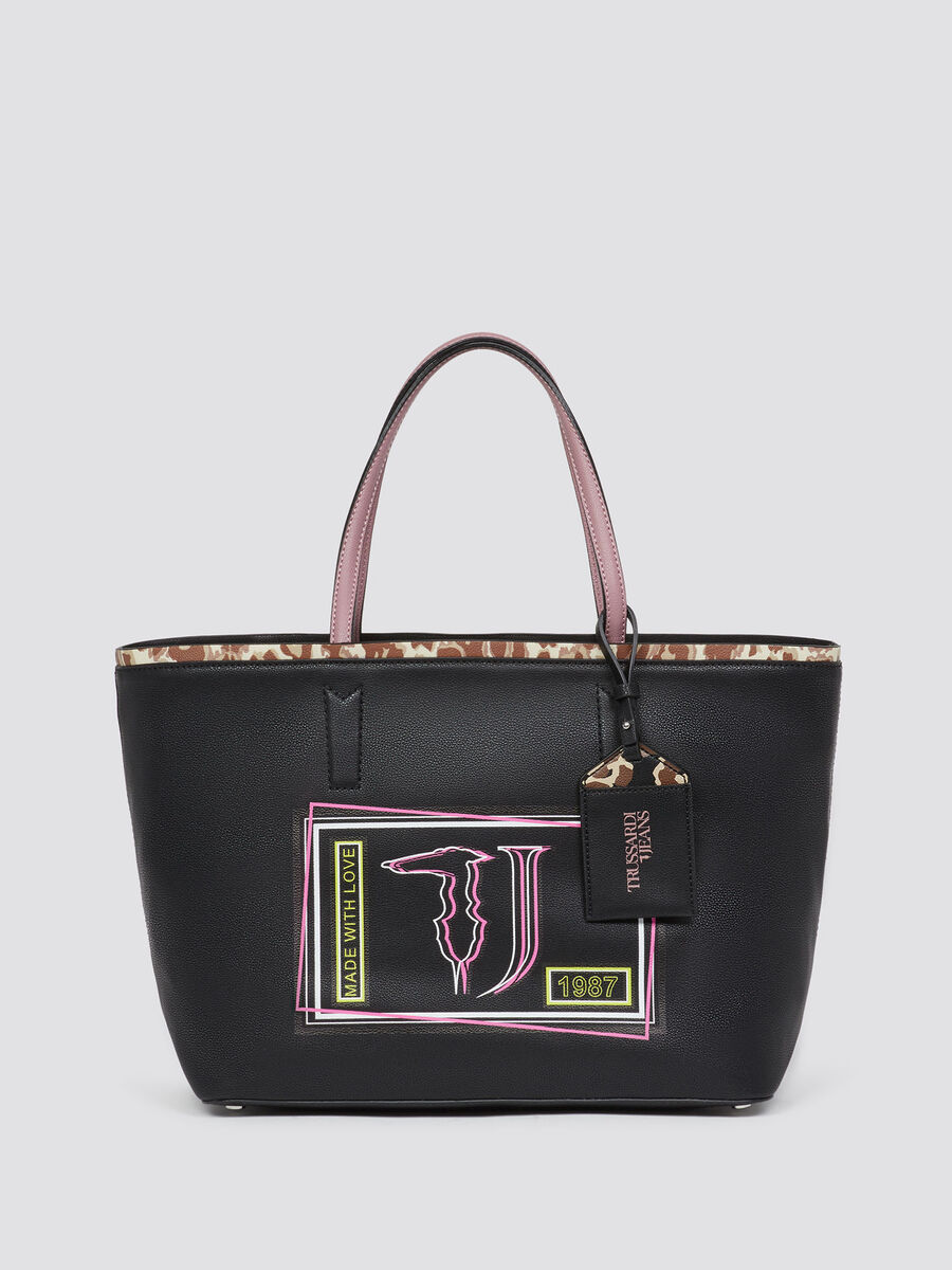 Liquirizia shopping bag with print  fab5973eda936