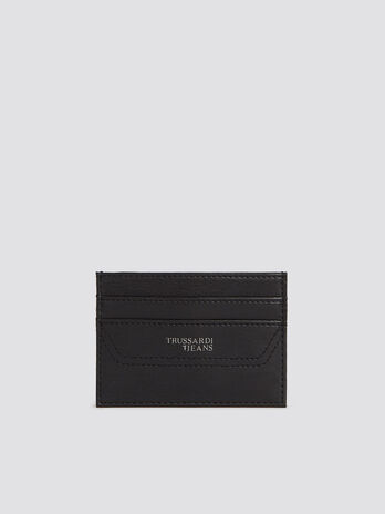 Business Affair card case in monochrome faux leather