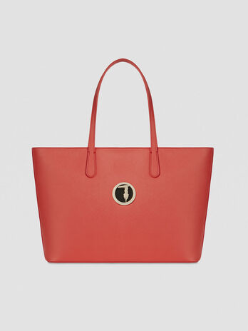 Large saffiano Sophie shopper with logo