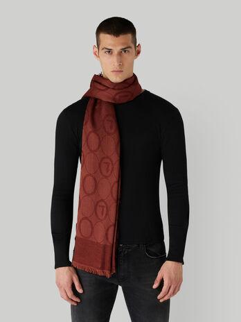 Panuelo de mezcla de modal y lana jacquard