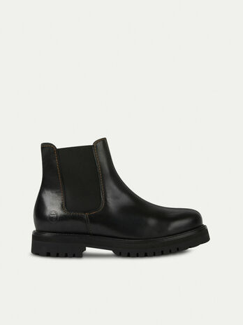 Smooth leather Beatle boots