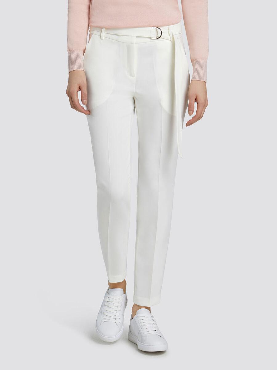 4d5fd6bbb4 Pantaloni regular fit in cady a sigaretta con cintura