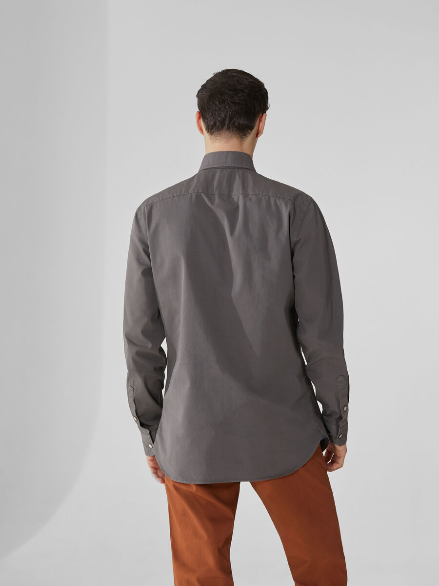 Regular-fit light gabardine shirt