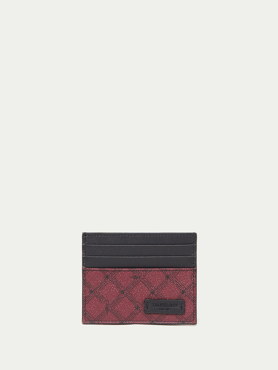 Crespo leather Monogram card holder